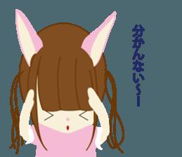 Rabbit system girl. sticker #12515543