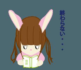 Rabbit system girl. sticker #12515544