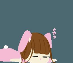 Rabbit system girl. sticker #12515547