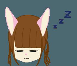 Rabbit system girl. sticker #12515548