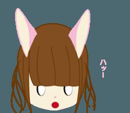 Rabbit system girl. sticker #12515549