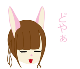 Rabbit system girl. sticker #12515551