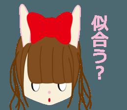 Rabbit system girl. sticker #12515553