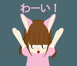Rabbit system girl. sticker #12515555