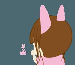 Rabbit system girl. sticker #12515556