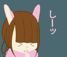 Rabbit system girl. sticker #12515558
