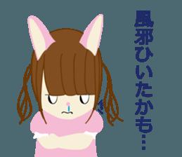 Rabbit system girl. sticker #12515566