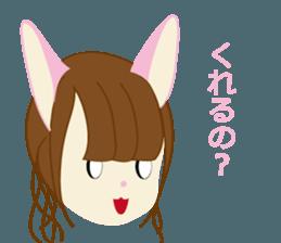 Rabbit system girl. sticker #12515568