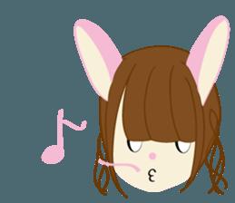 Rabbit system girl. sticker #12515573