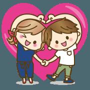 สติ๊กเกอร์ไลน์ LOVELOVE YURU couple