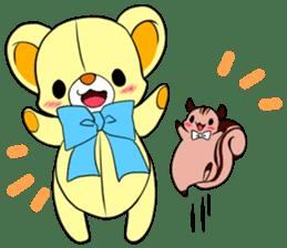 Cute teddy bear Arthur's sticker sticker #12518246