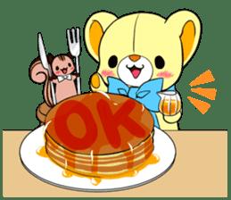 Cute teddy bear Arthur's sticker sticker #12518247