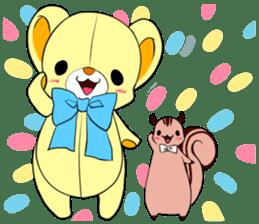 Cute teddy bear Arthur's sticker sticker #12518248
