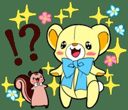 Cute teddy bear Arthur's sticker sticker #12518251
