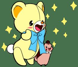 Cute teddy bear Arthur's sticker sticker #12518252