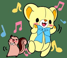 Cute teddy bear Arthur's sticker sticker #12518253