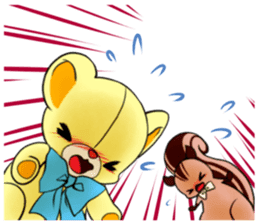Cute teddy bear Arthur's sticker sticker #12518264