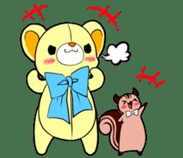 Cute teddy bear Arthur's sticker sticker #12518268