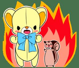 Cute teddy bear Arthur's sticker sticker #12518269