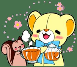 Cute teddy bear Arthur's sticker sticker #12518271