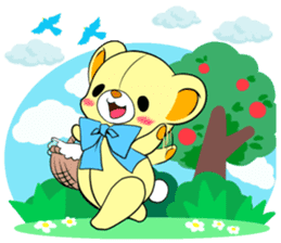Cute teddy bear Arthur's sticker sticker #12518272