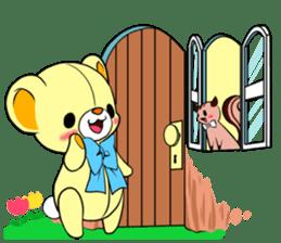 Cute teddy bear Arthur's sticker sticker #12518274