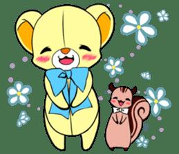 Cute teddy bear Arthur's sticker sticker #12518279