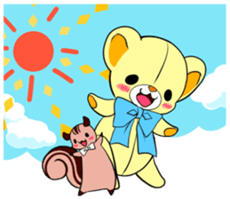 Cute teddy bear Arthur's sticker sticker #12518280
