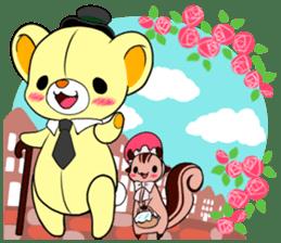 Cute teddy bear Arthur's sticker sticker #12518281