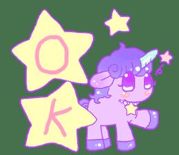 Pastel Unicorn. sticker #12518478