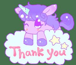 Pastel Unicorn. sticker #12518479