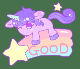 Pastel Unicorn. sticker #12518483