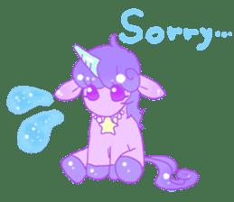Pastel Unicorn. sticker #12518485