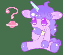 Pastel Unicorn. sticker #12518487