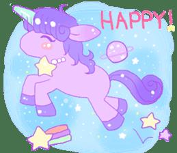Pastel Unicorn. sticker #12518489