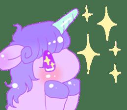 Pastel Unicorn. sticker #12518493
