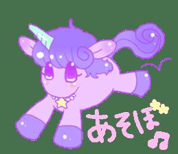 Pastel Unicorn. sticker #12518494