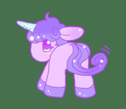 Pastel Unicorn. sticker #12518505