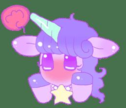 Pastel Unicorn. sticker #12518508