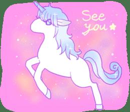 Pastel Unicorn. sticker #12518517