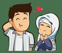 Hijab Couple sticker #12519444