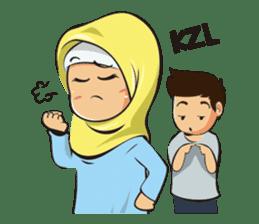 Hijab Couple sticker #12519458