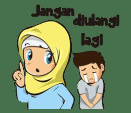 Hijab Couple sticker #12519459