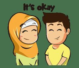 Hijab Couple sticker #12519472