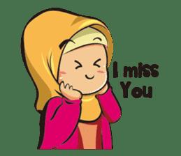 Hijab Couple sticker #12519474