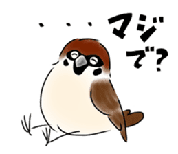 Daily life of a Sparrow sticker #12520849