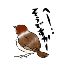 Daily life of a Sparrow sticker #12520851
