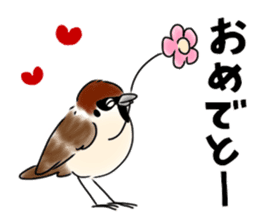 Daily life of a Sparrow sticker #12520854