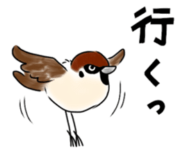 Daily life of a Sparrow sticker #12520870