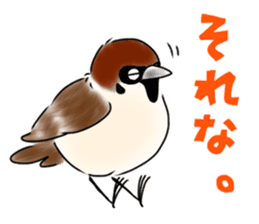 Daily life of a Sparrow sticker #12520877